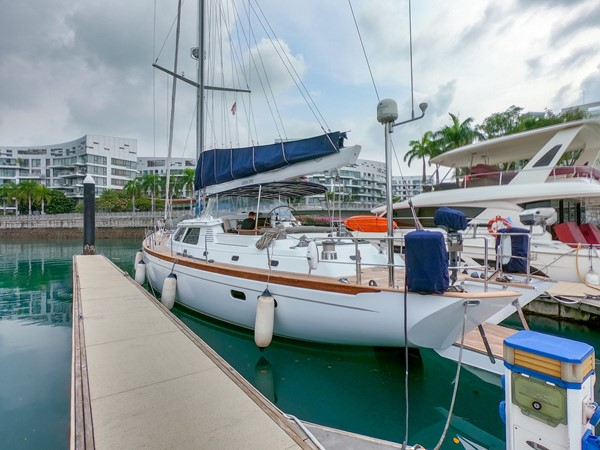 Opus 73 Port side aft 1997 SENSATION Opus 73 Cruising Sailboat 2519762