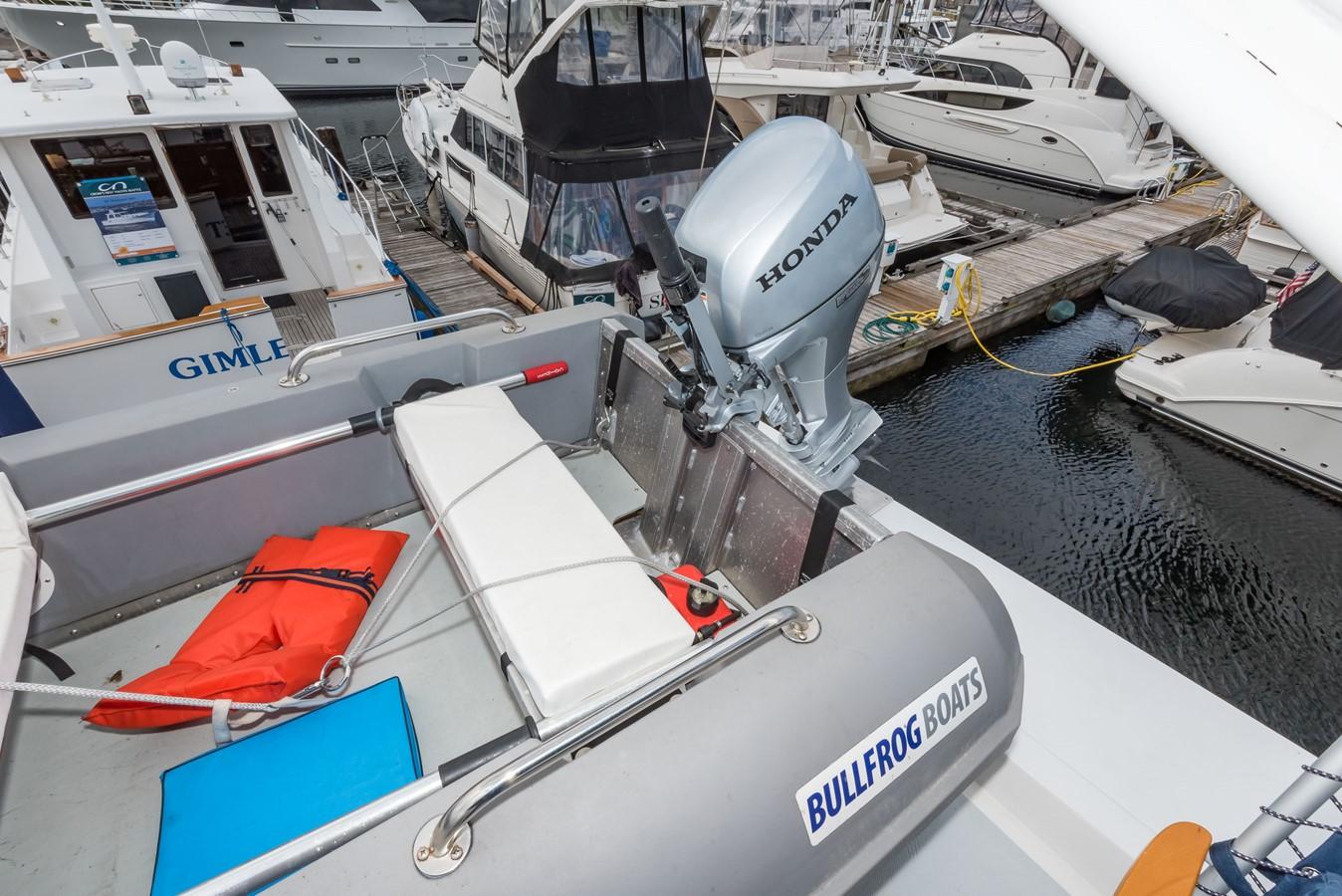 Tender w/New Honda 9.9hp Outboard 1983 DEFEVER Aft Cabin Motoryacht Trawler 2580945