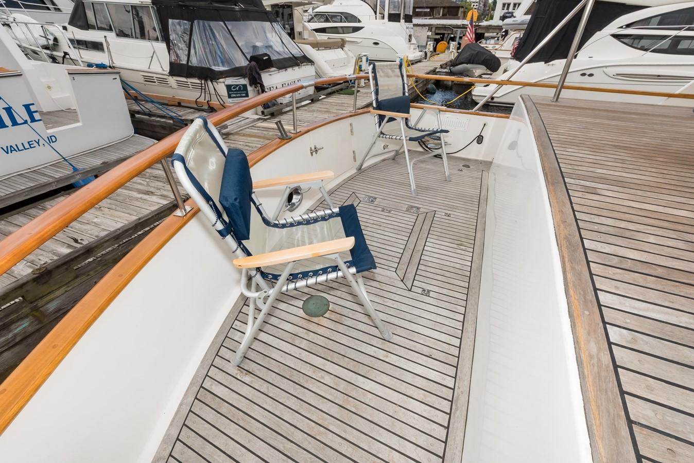 Seats in Sunshine - Aft Deck 1983 DEFEVER Aft Cabin Motoryacht Trawler 2580948