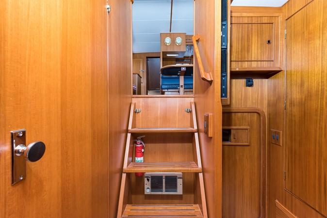 Staircase Forward 1983 DEFEVER Aft Cabin Motoryacht Trawler 2580915