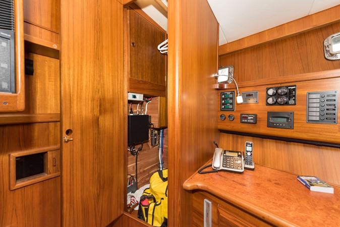 Hanging Closet & Instrumentation 1983 DEFEVER Aft Cabin Motoryacht Trawler 2580918