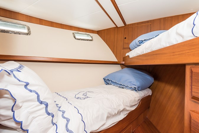 Forward Stateroom w/Padded Wall Covering 1983 DEFEVER Aft Cabin Motoryacht Trawler 2580926