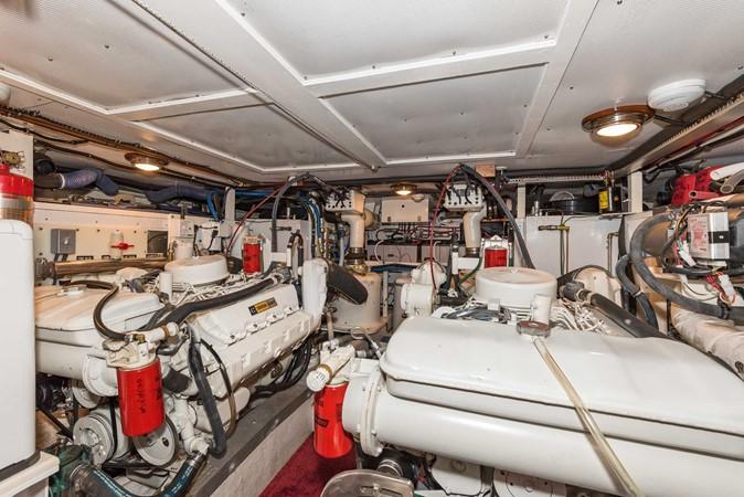 Engine Room Aft View 1983 DEFEVER Aft Cabin Motoryacht Trawler 2580962