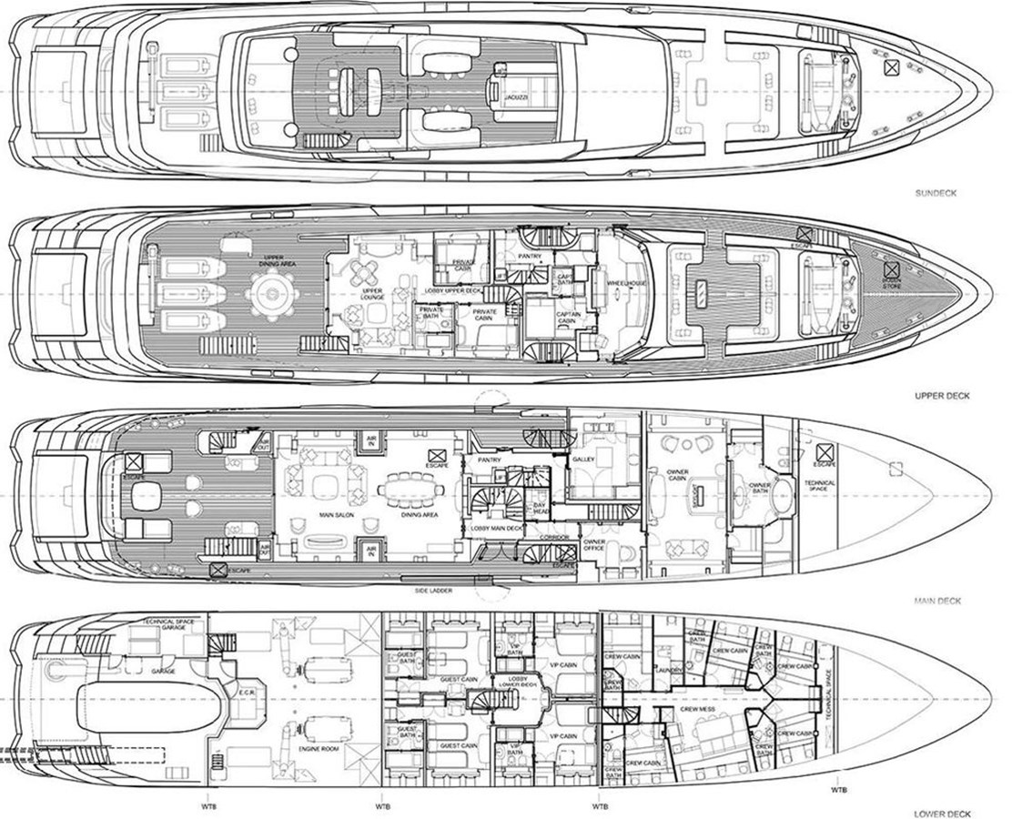 2016 MONDOMARINE Alloy 3 Deck Motor Yacht 2511803