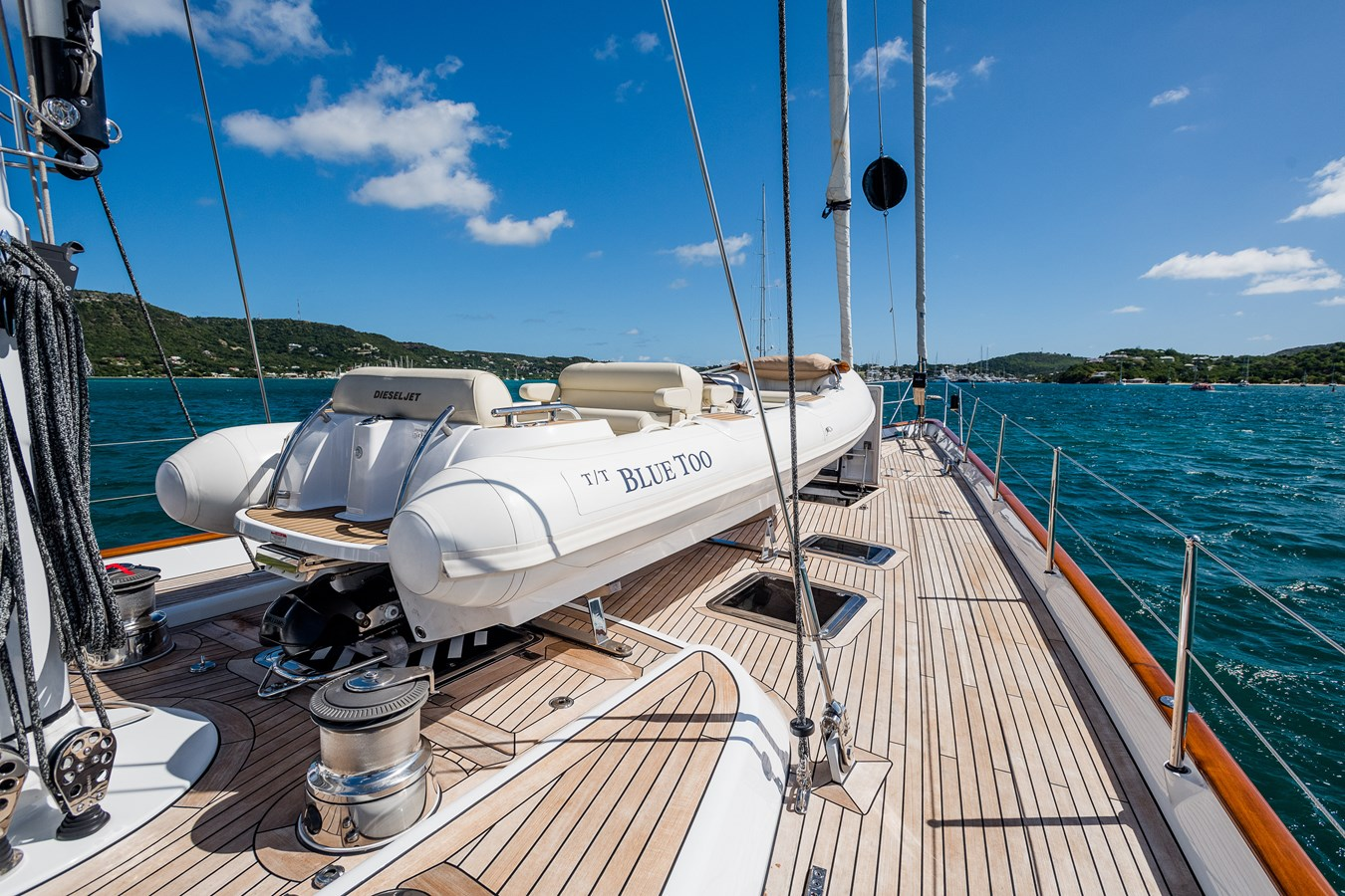 Foredeck with Tender Stowed (Tender Not Included) 1998 ALLOY Sailing Ketch Cruising Ketch 2516617