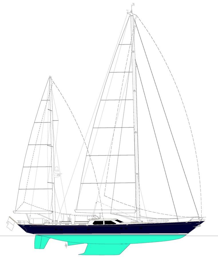 033 Blue Too Sail Plan 1998 ALLOY Sailing Ketch Cruising Ketch 2544048