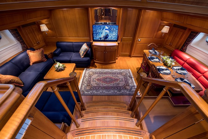View of Main Salon from Deck Salon - Pilothouse 1998 ALLOY Sailing Ketch Cruising Ketch 2516593