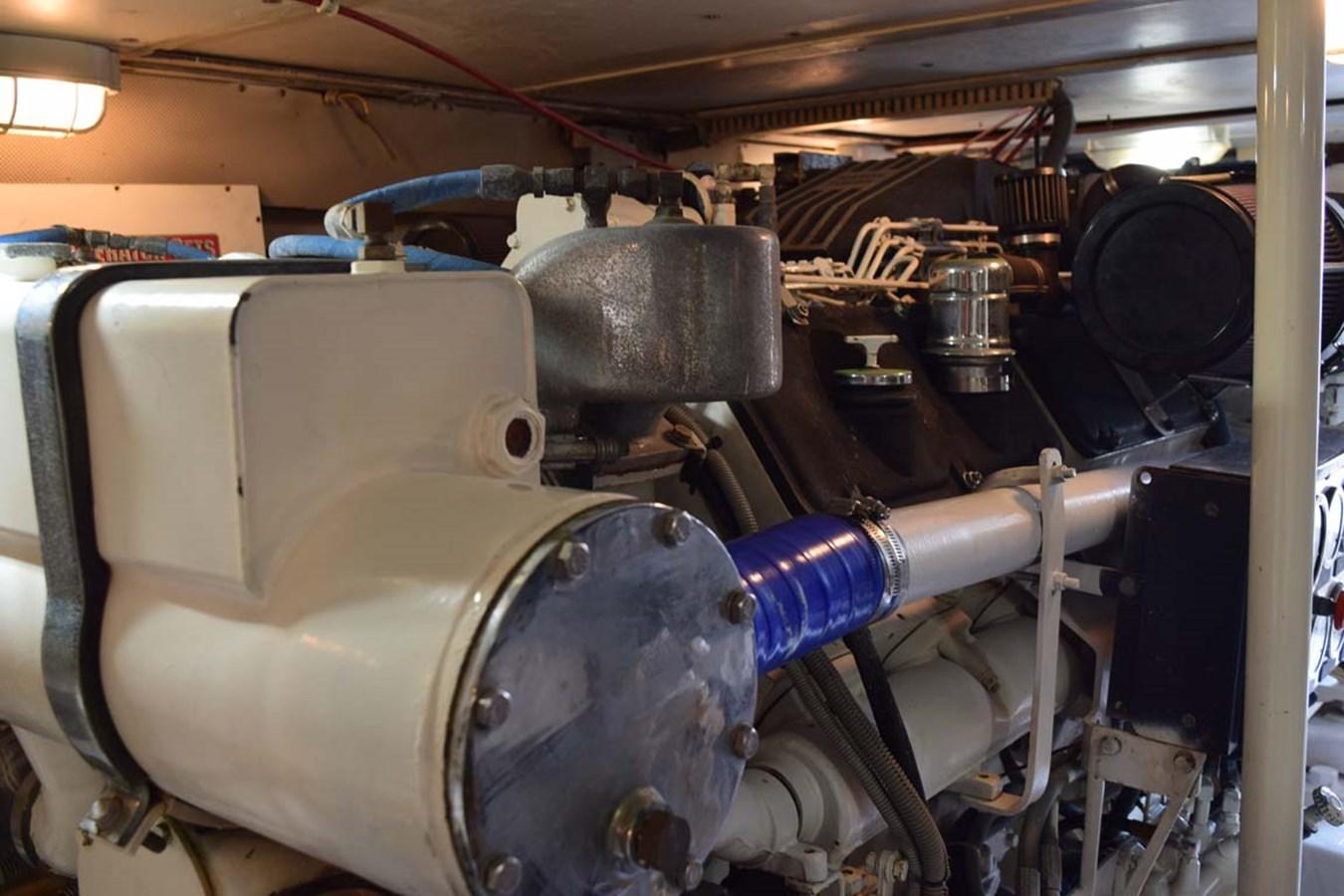 Engine Room 1998 BERTRAM 60 Convertible Sport Fisherman 2700124