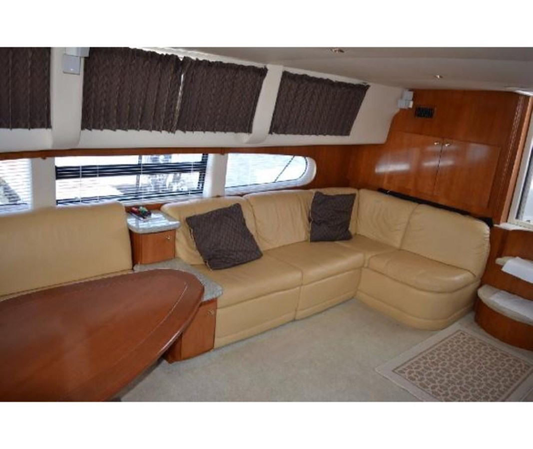 Starboard Salon Facing Aft 2001 CARVER 46 Motor Yacht Motor Yacht 2524709