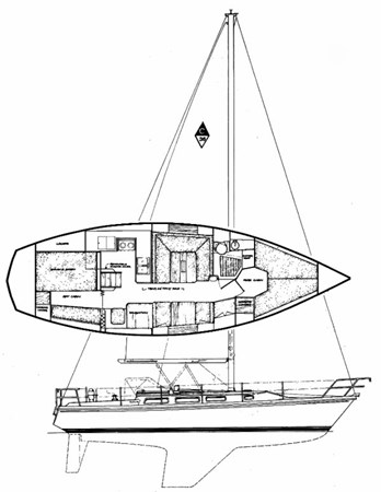 catalina_36_drawing 1983 CATALINA MK l Sloop 2538439