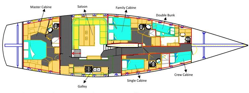 Interior 11 2001 CANTIERE TORMENE  Sloop 2593525