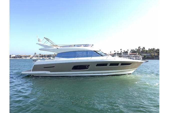 Starboard Profile - Bimini Back 2015 PRESTIGE 550 Fly Motor Yacht 2543582