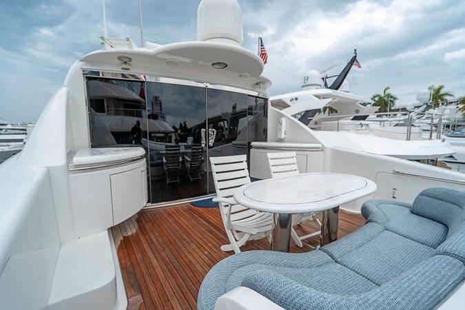 Skylounge Aft Deck 2002 LAZZARA Skylounge Motor Yacht 2563929