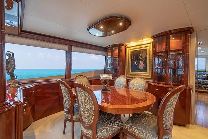 Main Salon Formal Dining 2002 LAZZARA Skylounge Motor Yacht 2563947