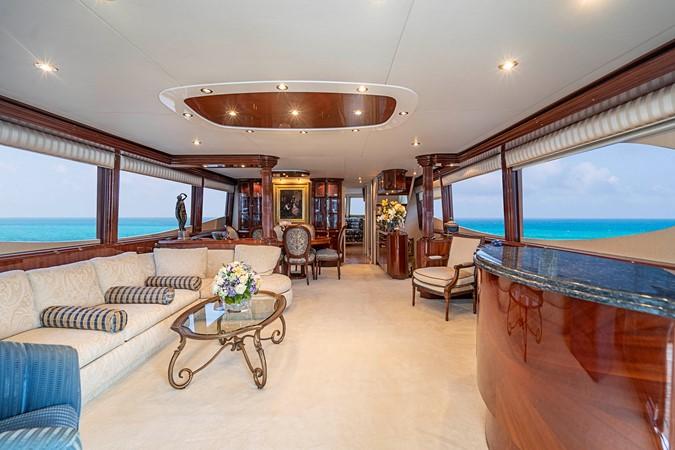 Forward View Grand Salon 2002 LAZZARA Skylounge Motor Yacht 2563949