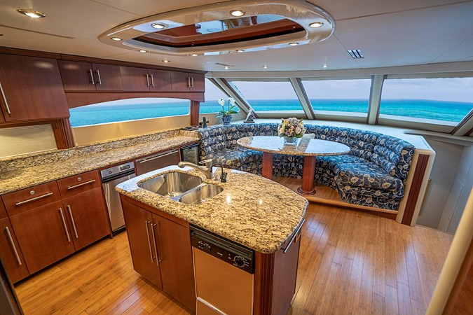 Country Kitchen Style Galley 2002 LAZZARA Skylounge Motor Yacht 2563955