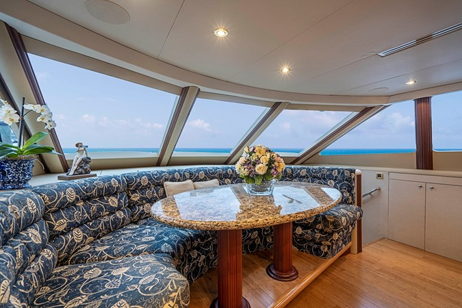 Country Kitchen Style Galley 2002 LAZZARA Skylounge Motor Yacht 2563957