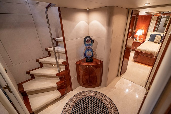 Owner / Guest Stateroom's Foyer 2002 LAZZARA Skylounge Motor Yacht 2563963