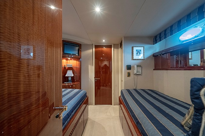 Starboard Twin Berth Guest Stateroom 2002 LAZZARA Skylounge Motor Yacht 2563981