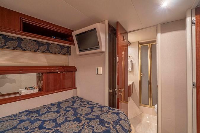 Forward Captains Cabin 2002 LAZZARA Skylounge Motor Yacht 2574893