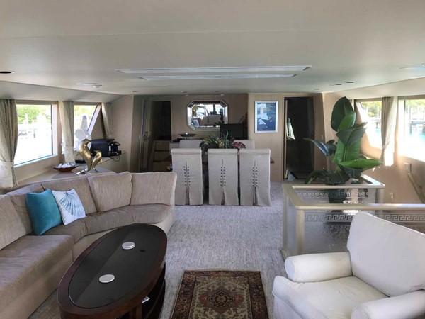 Salon Looking Forward 1990 BROWARD Custom Extended Motor Yacht 2546429