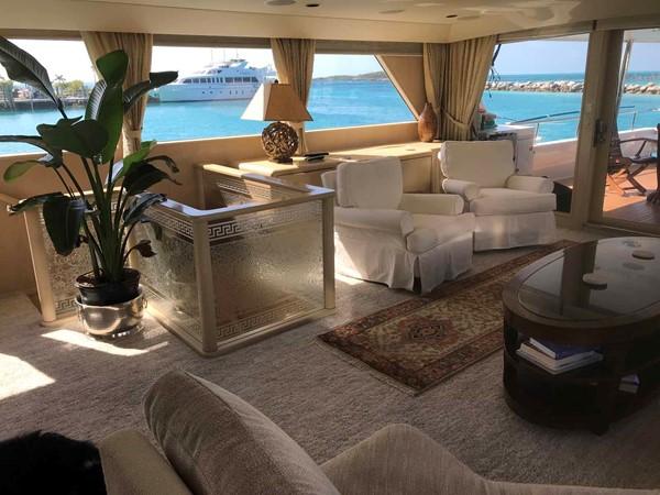 Salon to Starboard 1990 BROWARD Custom Extended Motor Yacht 2546434