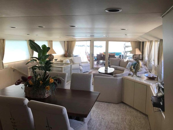 Dining Area 1990 BROWARD Custom Extended Motor Yacht 2546436