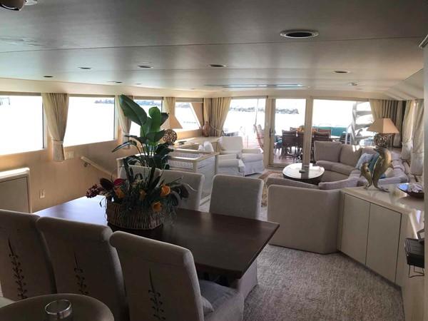 Dining Area Looking Aft 1990 BROWARD Custom Extended Motor Yacht 2546438