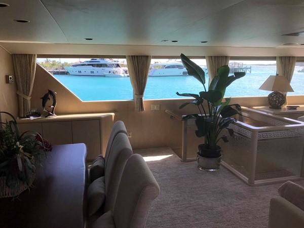 Dining Area Looking Starboard 1990 BROWARD Custom Extended Motor Yacht 2546439