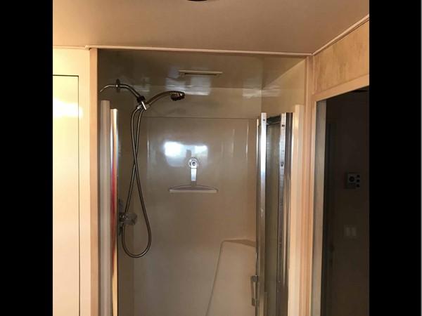 Starboard Twin Cabin Shower 1990 BROWARD Custom Extended Motor Yacht 2546479