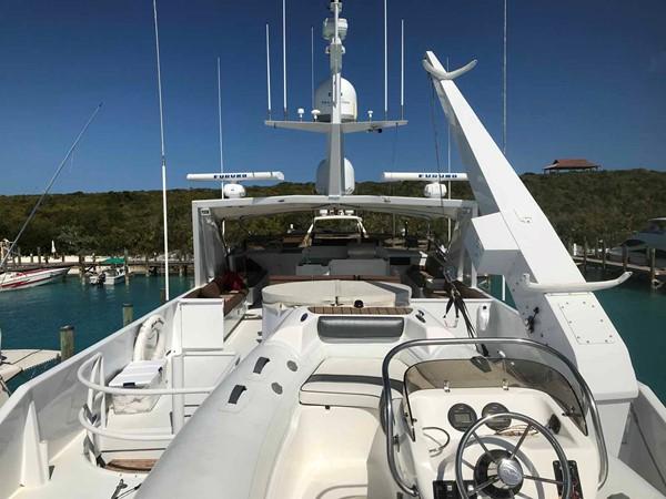 Boat Deck Looking Forward 1990 BROWARD Custom Extended Motor Yacht 2546506