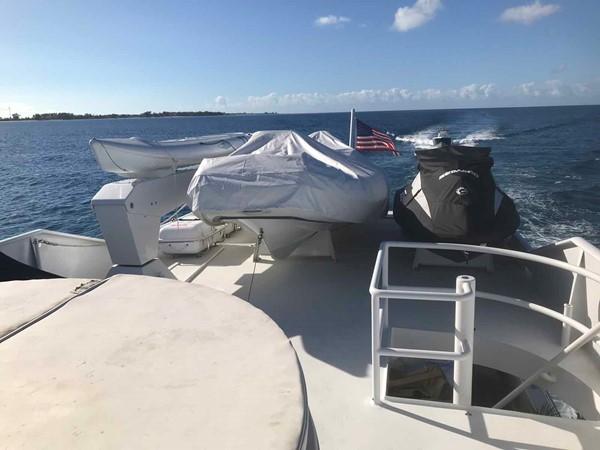 Boat Deck 1990 BROWARD Custom Extended Motor Yacht 2546507