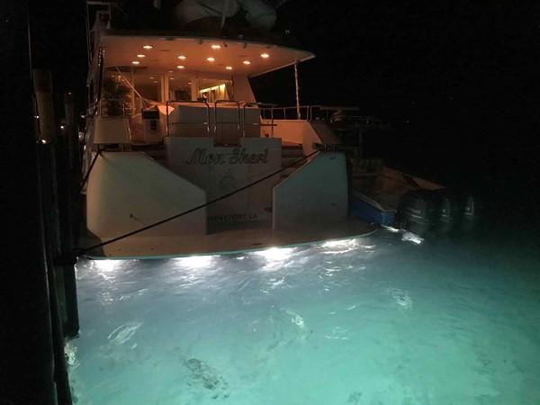 New Underwater Lights 1990 BROWARD Custom Extended Motor Yacht 2546521