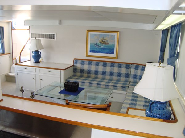 Galley into Lower Salon (2) 1980 HUCKINS  Motor Yacht 2802421