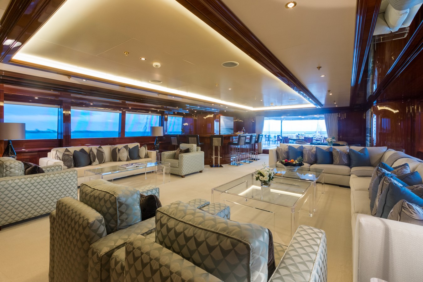 Upper Deck Salon Looking Aft - 214 CODECASA For Sale