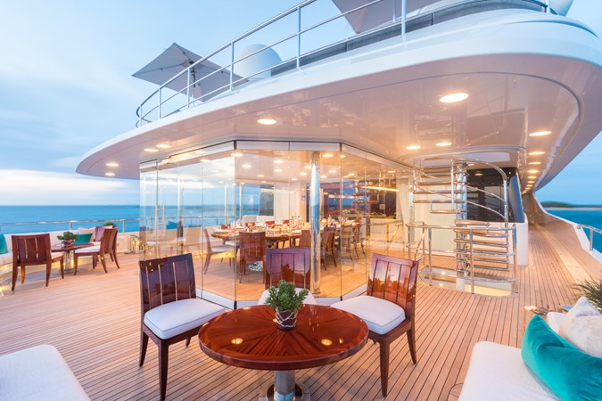 Upper Deck Enclosed Dining  2010 CODECASA  Motor Yacht 2548512