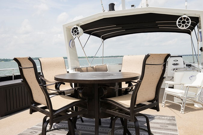 Bridge table and chairs 2007 FANTASY YACHTS 112' x 21' Houseboat 2551883