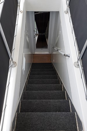 Midship interior staircase 2007 FANTASY YACHTS 112' x 21' Houseboat 2551892