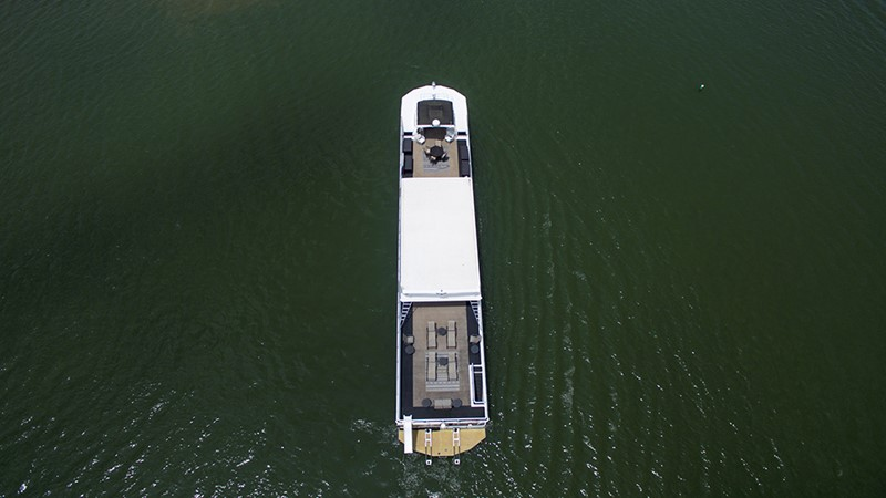 Top view 2007 FANTASY YACHTS 112' x 21' Houseboat 2551936