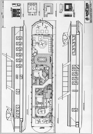 Floor Plan 2007 FANTASY YACHTS 112' x 21' Houseboat 2551972