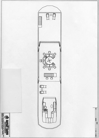 Floor Plan 2 2007 FANTASY YACHTS 112' x 21' Houseboat 2551973