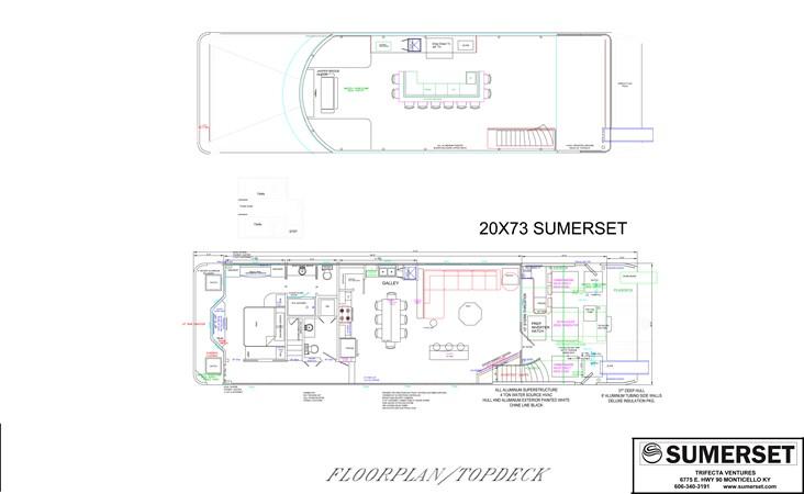 2019 SUMERSET HOUSEBOATS 73 Houseboat Houseboat 2550966