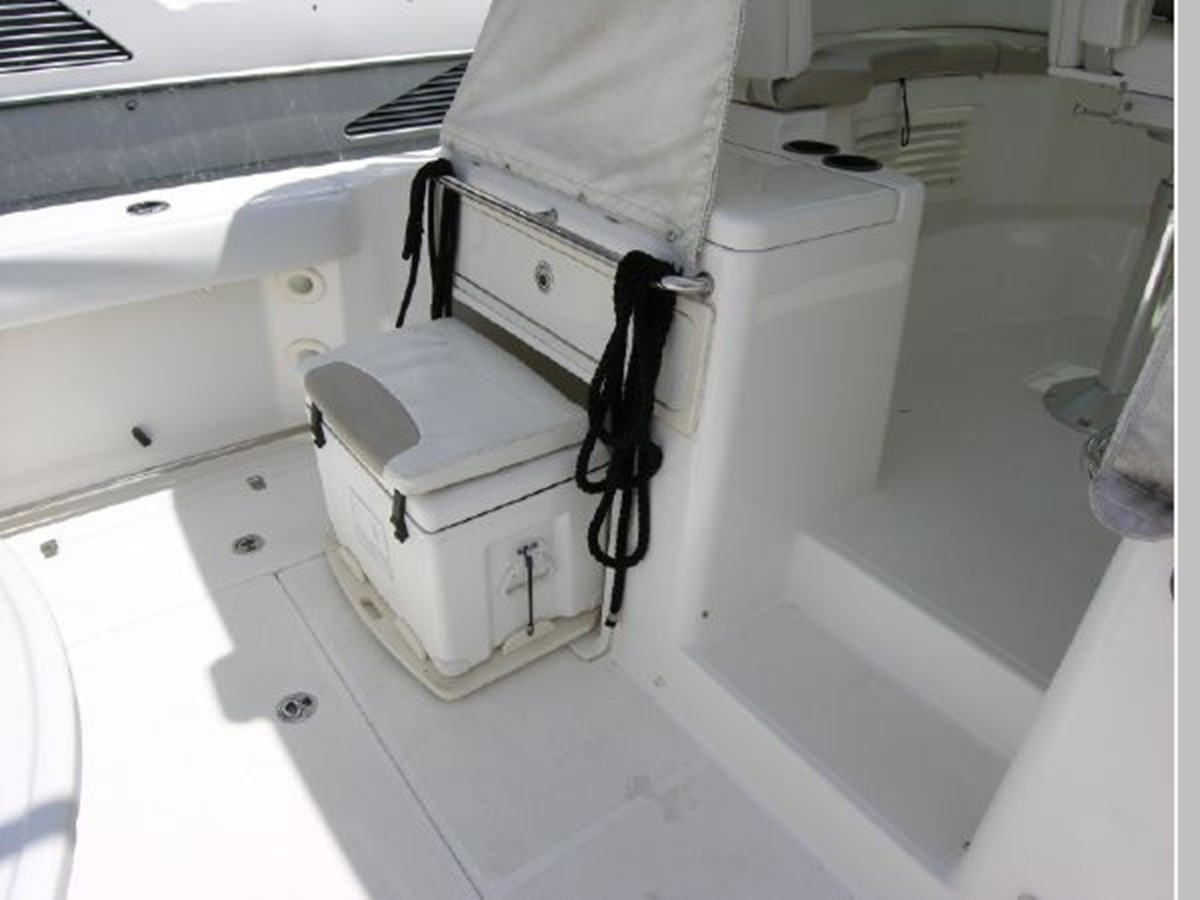 Cockpit Port Forward Ice Chest/Seat Out 2008 BOSTON WHALER 345 Conquest Sport Fisherman 2555164