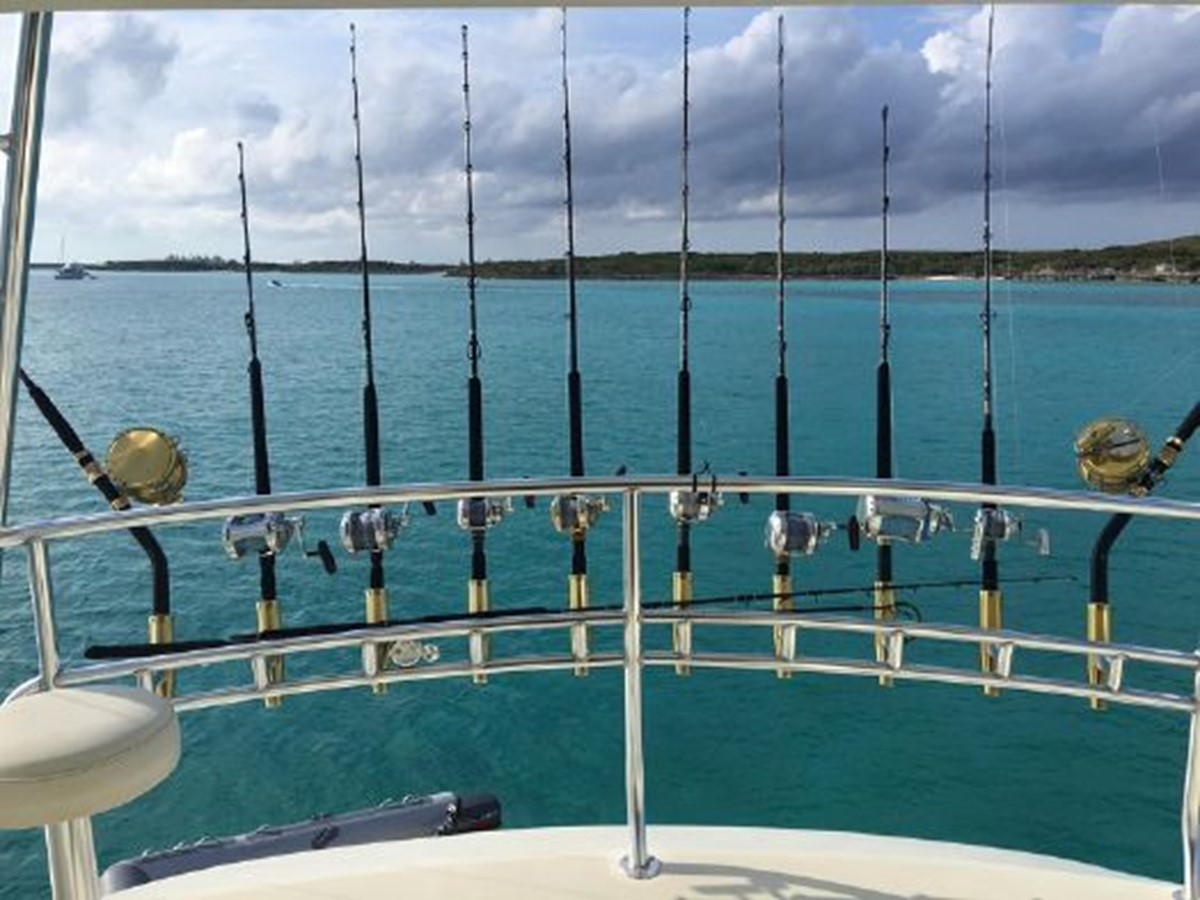 Flybridge Rocket Launcher 1998 PETTEGROW Custom Sport Fisherman 2558860