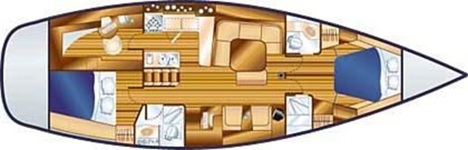 2004 HUNTER 466 Cruising Sailboat 2574036
