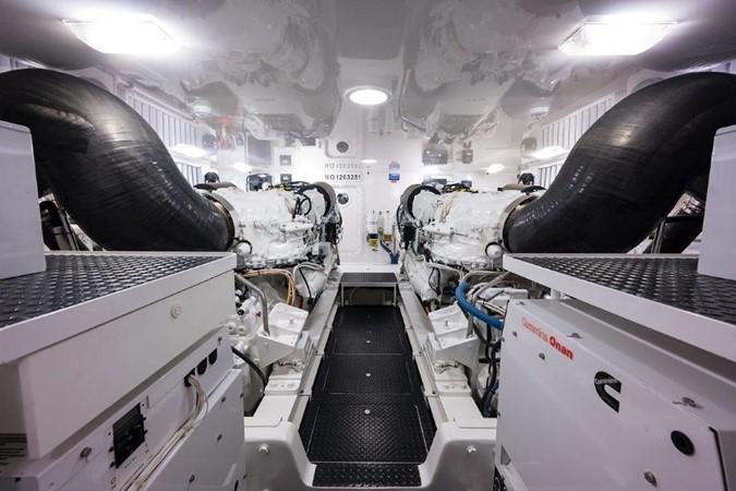 Engine Room 2016 VIKING Convertible with Seakeeper Sport Fisherman 2603958