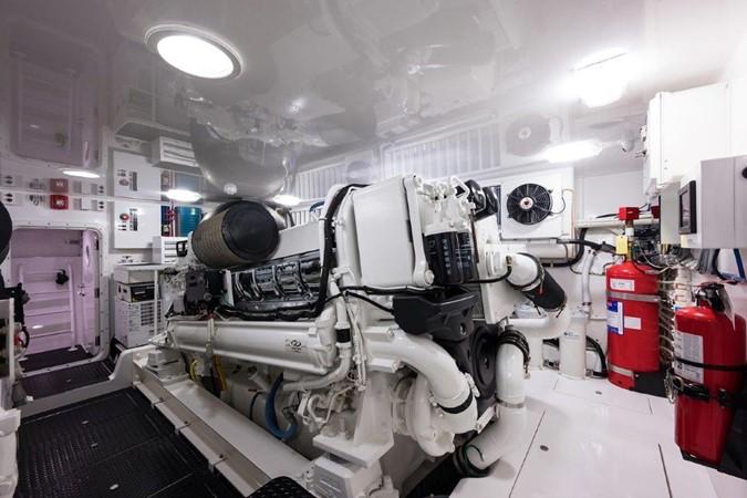 Engine Room 2016 VIKING Convertible with Seakeeper Sport Fisherman 2603964