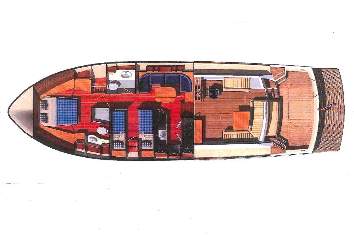 Layout 2005 GRAND BANKS EASTBAY 49 Cruiser 2595454