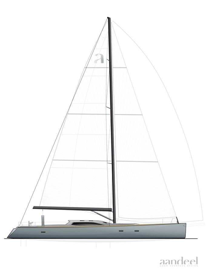 LAYOUT 1996 GOETZ CUSTOM BOATS/DERECKTOR SHIPYARDS Sparkman & Stephens Designed Performance Sailing Yacht Cruising Sailboat 2585512
