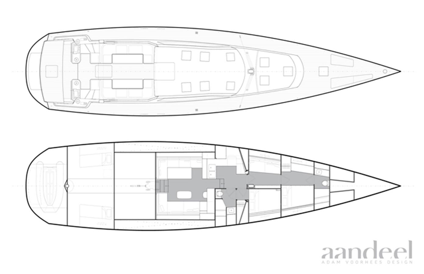 LAYOUT 1996 GOETZ CUSTOM BOATS/DERECKTOR SHIPYARDS Sparkman & Stephens Designed Performance Sailing Yacht Cruising Sailboat 2585513